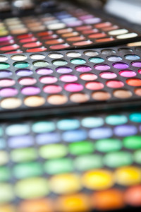 make up palette colorfull closeup